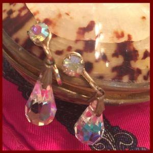 Vintage Chandelier Crystal Drop Earrings